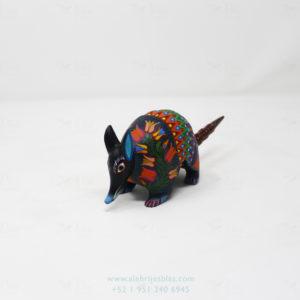 Mexican Folk Art, Alebrije Flowered Armadillo VII