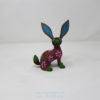 Wood Carving Art, Alebrije Flowery Conejo II