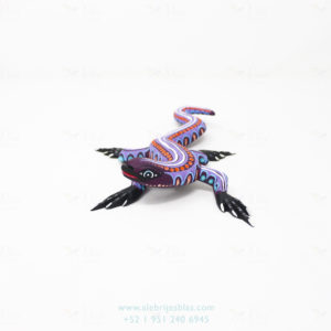 Wood Carving Art, Alebrije Lagarto II