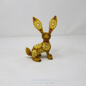 Original Oaxacan Art, Alebrije Flowery Conejo III