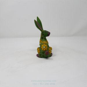 Mexican Folk Art, Alebrije Flowery Conejo IV