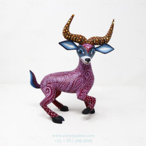 Wood Carving Art, Alebrije Venado
