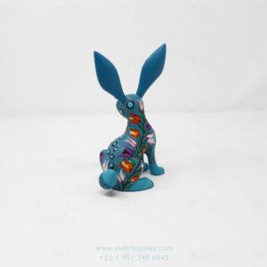 Original Oaxacan Art, Alebrije Flowery Conejo VII
