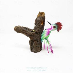 Wood Carving Art, Alebrije Pájaro Carpintero