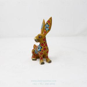Original Oaxacan Art, Alebrije Flowery Conejo