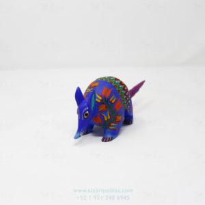 Mexican Folk Art, Alebrije Flowered Armadillo V