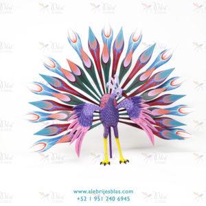 Obra de Escultura Artesal, Alebrije Pavoreal Peacock I