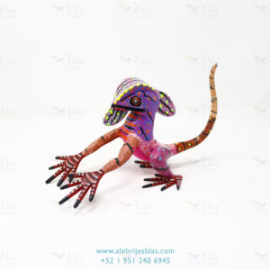 Wood Carving Art, Alebrije Basilisco II