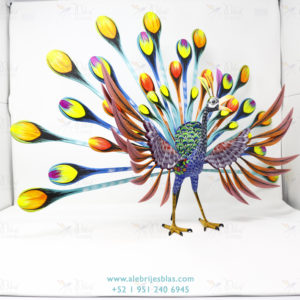 Mexican Folk Art, Alebrije Pavoreal Peacock XII