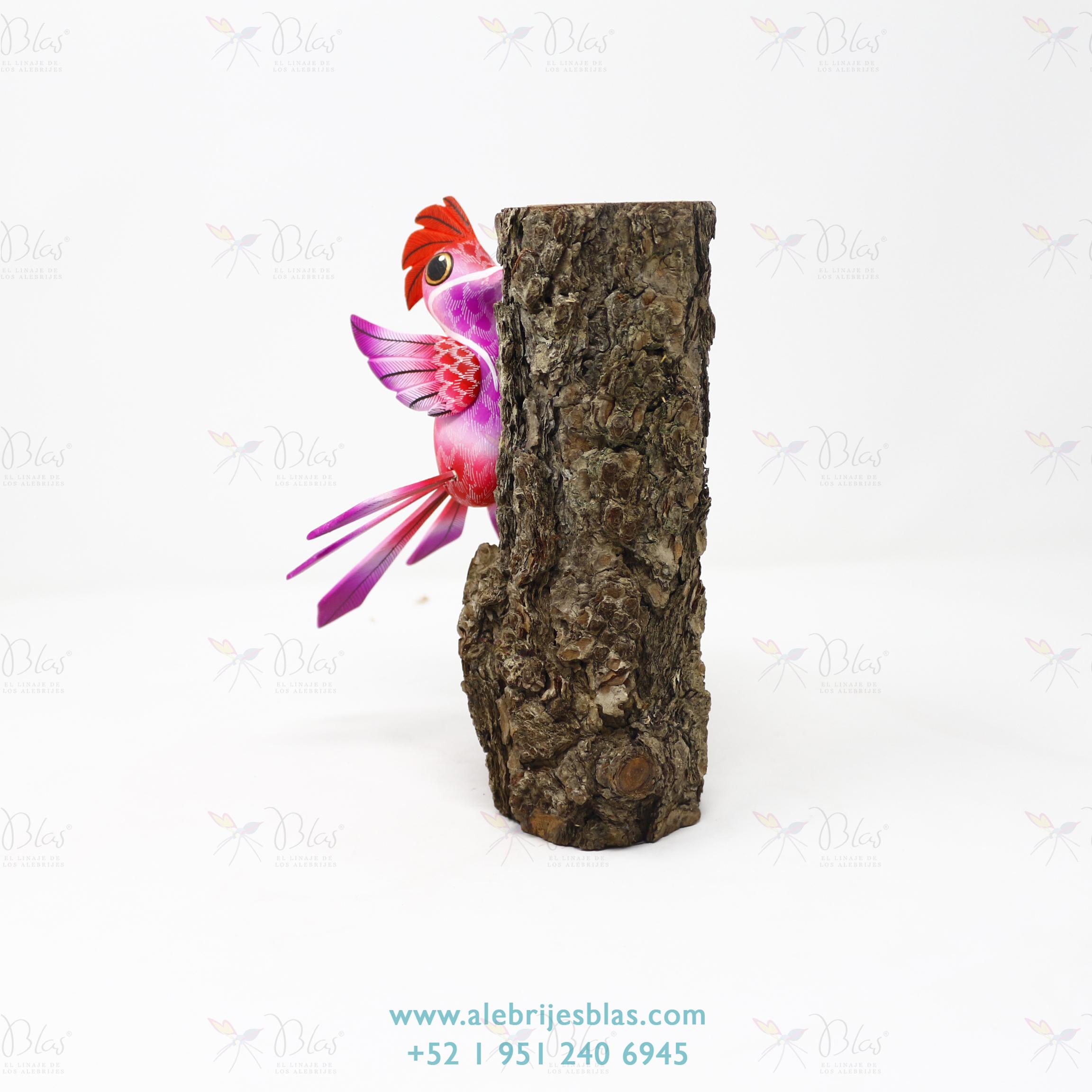 Wood Carving Art, Alebrije Pájaro Carpintero VI