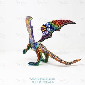 Mexican Art Decor, Alebrije Dragón de Cresta III