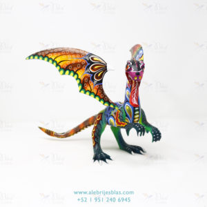 Mexican Art Decor, Alebrije Dragón de Cresta III