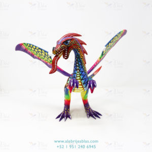 Wood Carving Art, Alebrije Dragón de Cresta IV