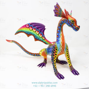 Wood Carving Art, Alebrije Dragón Naciente