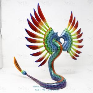 Original Oaxacan Art, Alebrije Quetzalcoatl Serpiente Emplumada