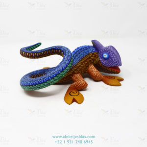 Wood Carving Art, Alebrije Camaleón Travieso
