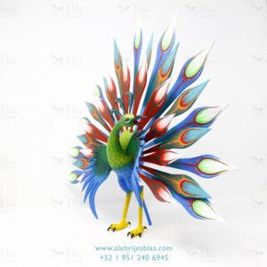 Mexican Folk Art, Alebrije Pavoreal Peacock IV