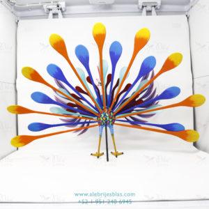 Obra de Escultura Artesanal Alebrije Pavorreal Peacock VII