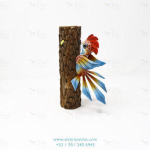 Wood Carving Art, Alebrije Pájaro Carpintero II