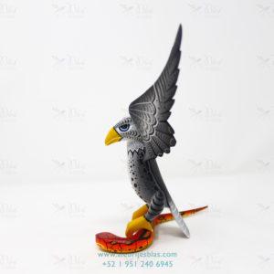 Wood Carving Art, Alebrije Águila sobre Serpiente III