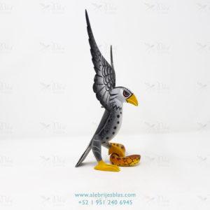 Obra de Escultura Artesanal, Alebrije Águila sobre Serpiente IV
