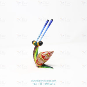 Wood Carving Art, Alebrije Caracol Pequeño X