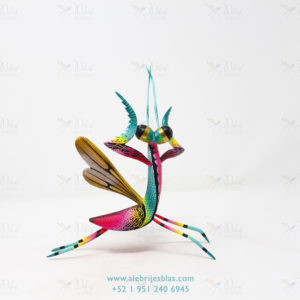 Obra de Escultura Artesanal, Alebrije Mantis Religiosa V