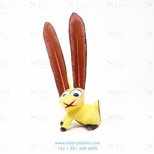 Tallado en Madera, Alebrije Conejo Amarillo