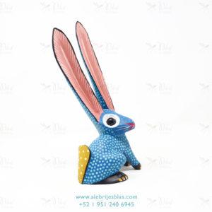 Tallado en Madera, Alebrije Conejo Azul