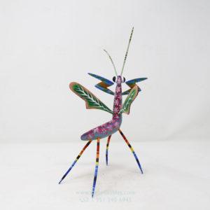 Madera tallada, Alebrije Mantis Floral V por Paul Blas