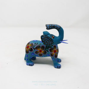Alebrije Elefante Floreado Por José Olivera Pérez