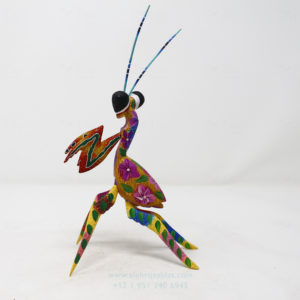 Alebrije Mantis Orquidea IV por Paul Blas