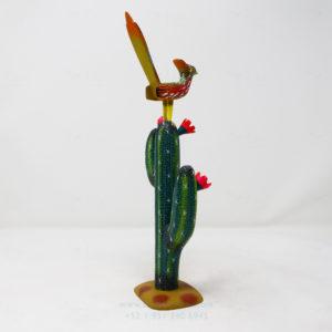 Alebrije Correcaminos Sobre Cactus