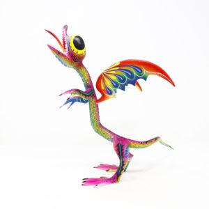 Dragón Cuatlicue Tallado en madera de Copal de manera artesanal