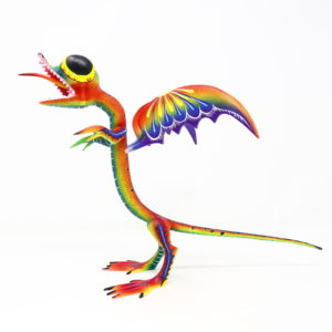 Dragón Cuatlicue Alebrije, Talla en Madera Artesanal