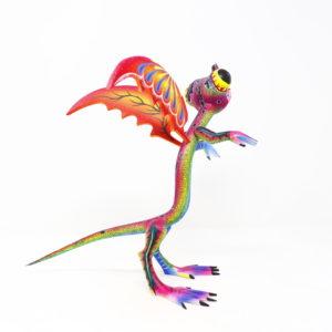 Alebrije Dragón Cuatlicue Tallado en madera
