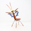 Mantis III tallada en madera de copal por Paulino Blas
