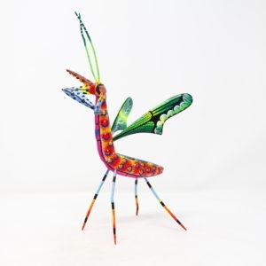 Mantis XIX tallada en madera de copal por Paulino Blas