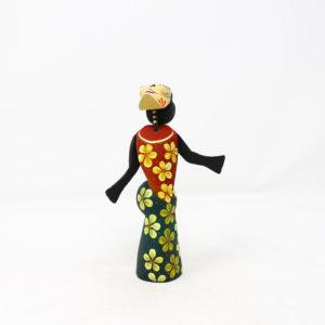 Catrina XX tallada en madera de copal por César Blas