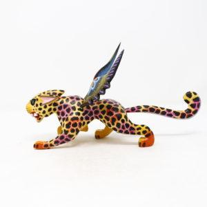 Alebrije Jaguar Con Alas IX - Artesania de madera