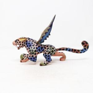 Alebrije Jaguar Con Alas XI - Artesania de madera