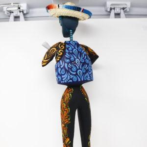 Alebrie Mariachi Squeleton - Artesania de madera pintada a mano