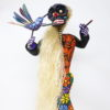Alebrije Catrina Con el Mensajero de los Muertos - Artesania de madera pintada a mano